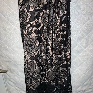 Black and nude women's dress